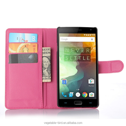 Hot selling 5.5 inch leather flip phone case for OnePlus Two mobile