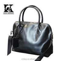 SK- T019 100% men leather handbag laptop bag tote bag for business and travel