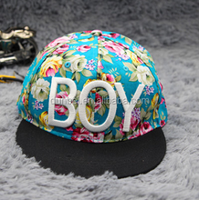 wholesale 2015 new fashion BOY letter embroidered flower dyed baseball cap