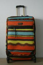 GM14066 300D Rainbow trolley luggage set / Shanghai Soft luggage suitcase / 3 pcs travel bag for women