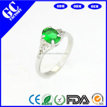Turquoise fashion jewelry silver ring hot selling in Europe and the United States of crystal ring