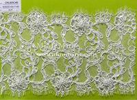 Fatory wholesale fashion lace fabric/Nylon and Cotton lace fabric/ polyester lace CRL005C4B