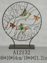 Metal and acrylic desktop art with butterfly