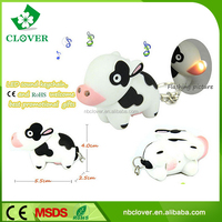 With sound ABS plastic animal shape 2 led keyring