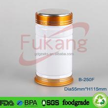 250cc white pet medicine containers, empty pet capsule pill bottles, plastic sport supplement bottle manufacturer China
