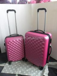 ABS+PC 3 pcs set eminent 3 piece trolley luggage set swiss polo luggage