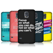 Fashion New Design With Courageous Words Cover Mobile Phone Case For Samsung S5 Case
