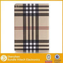 Grid stripe Case for iPad Air 2 ,grid leather case for ipad air 2 alibaba china