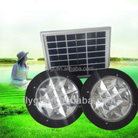 Home use LED 2W Portable solar light with charger