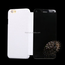 2015 hot sale 100% real leather mobile phone case/mirror phone case for iphone 6