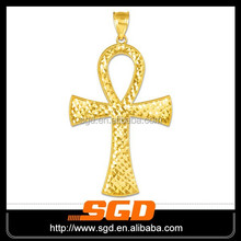 2015 new arrival&wholesale 316l stainless steel ankh pendant gold