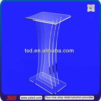 TSD-A471 best selling wholesale perspex podium/ podium table/ acrylic hotel podium