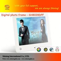 SH8028DPF docking speaker 8 inch digital photo mirror frame