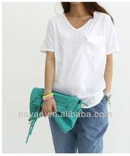 Promoción de lujo para mujer t - camisa, Para mujer baratos plain white t - camisa
