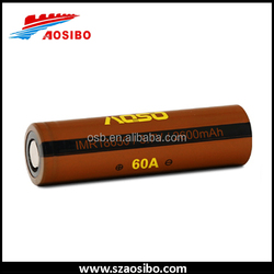New stock Aosibo 60amp high drain 18650 battery cell 2600mah 18650 battery operated electric vehicle