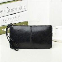 2014 Lowest wholesale factory price ladies candy color wax oil leather clutch bags in stock
