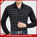 Alta qualidade última moda new style mantas homens negros camisas