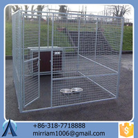 Hot dipped galvanized powder coating large outdoor good-looking steel pet house/dog kennels