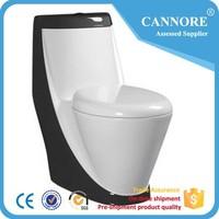 Color Black Bathroom Siphonic One Piece Toilet