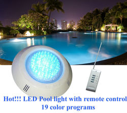 hot sale low price 12V ultra bright ip68 surface mounted multi-color 546 RGB leds 35w swimming pool LED light