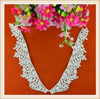Fashion new blouse cotton collar crochet neckline designs for ladies suit /dresses factory price