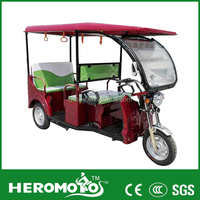 India Passenger 1000W Electric Tricycle/Electric Auto Rickshaw/Battery Powered 3 Wheeler