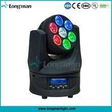 Osram 7x15W mini led moving head endless rotating spot light
