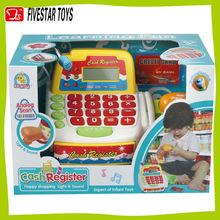 China atacado toy kids elétrica caixa registradora brinquedo do bebê brinquedo caixa de plástico