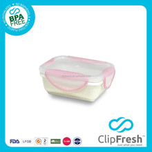 Clip Fresh Ceramic Retangular Food Storage(Clip Lock) 280ML
