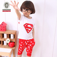 Kids summer clothes 2012 short pant triangle printed sport children clothing set