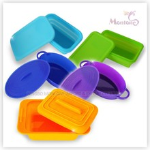 silicon lunch box, silicon food container, silicon folding lunch box