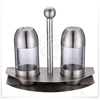 2015 kitchenware and cookware stainless steel salt & pepper shaker with stand