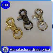 Factory High quality fashion metal fitting zinc alloy spring snap hook for handbag