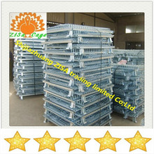 stackable logistics steel wire mesh cage of storage container