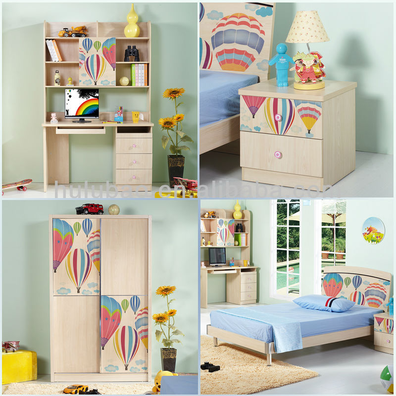 china manufacture ikea retro wooden kids bedroom furniture