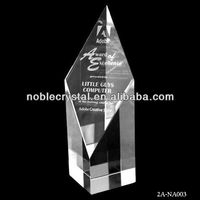 Optical Crystal Block With Customer's Logo Text