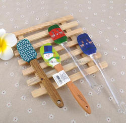 Wooden cake baking spatulas Silicone for Christmas Gift