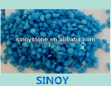 Blue colored pebbles stone