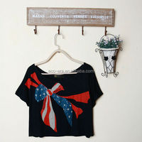 2014 New Fashion Wholesale Clothing Custom T-shirt Printing Your Logo Custom Fitness Wear Ladies Crop Top Alibaba China