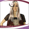Hot selling cheap crazy color straight synthetic Halloween carnival party wig