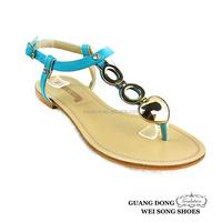 flat base sample designer upper shoe new design fashion flat summer sandals 2016