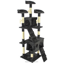 Dspet Factory sale Cat Tree Tower Condo Climing Scratcher Furniture Kitten House Scratching Sisal Post pet products Black