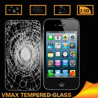 0.2mm Thickness 9H Hardness Anti-Crack Cell Phone Tempered Glass anti-scratch screen protector for iPhone4 4S