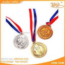 cheapest gold silver bronze embossed honour metals