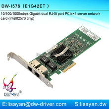 Gigabit Intel 82576 dual port PCI express adapter sever network card