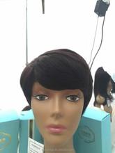 Remy virgin brazilian human hair wigs short and long straight wave hair