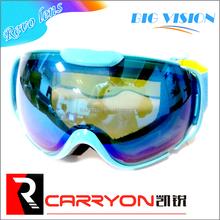 Occhiali da sci per bambini neve con doppia lente, ingrosso fabbrica revo bambini lenti snowboard occhiali di protezione