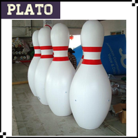 giant custom inflatable commercial advertising inflatable bowling pins, white inflatable advertising with logo