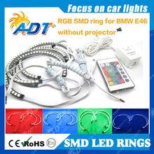 7 Colors RGB LED Angel Eye Halo Rings For BMW E39 E46 3 5 7 Series Headlight