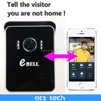 ebell brand shenzhen factory wireless doorbell with 2 way audio talking realtime 5pcs led light IR 3M